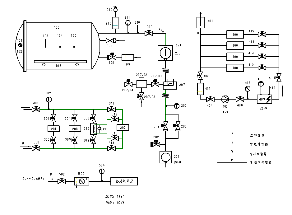 彩电行输出变压图电路